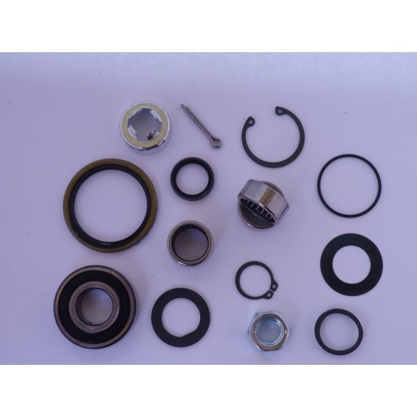 Vespa PX 125 150 200 Disc Fork & Front Hub Bearings & Seals Rebuild Kit