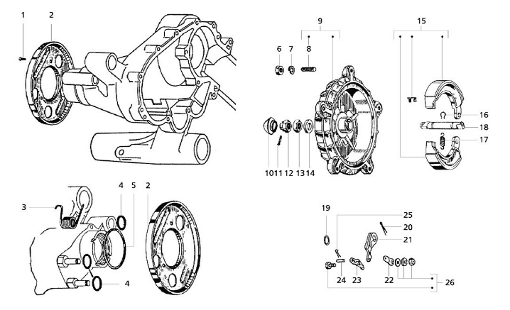 10 - ke Drum rear Vespa PX/T5 Vespa Primavera Headset Wiring Diagram on